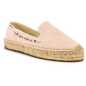 SOLUDOS All You Need is Love Espadrilles 8.5 NWT